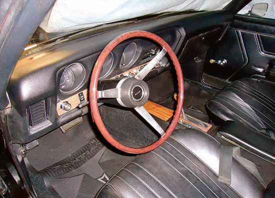 The standard steering wheels on early GTOs are made of opaque plastic over a steel rim and they sometimes crack. Eastwood Company has a line of fillers and primers that remove the cracks and prep the wheel for final painting. If the steering wheel is missing or you just want the optional and highly sought-after wood wheel, quality reproductions are now available.
