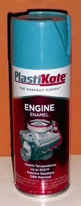 Original Pontiac engine block colors and other engine bay colors are readily available from a number of suppliers. A pro¬fessional paint gun provides the best results because of its superior application, but spray paint in rattle cans also provides impressive results. Pontiac Light Blue Metallic was offered on 1966-1970 Pontiac sixes and V-8s while 1959–1965 Pontiac V-8s are offered in Light Blue. The Light Blue Metallic was offered on so many cars and many businesses offer this color, including Ames, Classic Industries, Krylon-Dupli-color, and PPG. Light Blue is available from Ames, Classic Industries, DuPont, Plasti-Kote, Performance Years, and others. As with any other type of painting, be sure that the block is