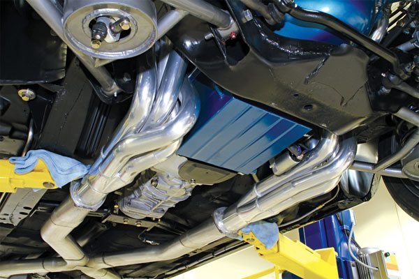 Four-tube headers offer the greatest performance potential as they offer the least amount of restriction to exhaust flow. They are, however, rather large and can be difficult to squeeze into a tight chassis. Installation may require raising one side of the engine and/or inserting them from below. I recommend purchasing headers from a popular manufacturer. The quality and consistency is generally very good.