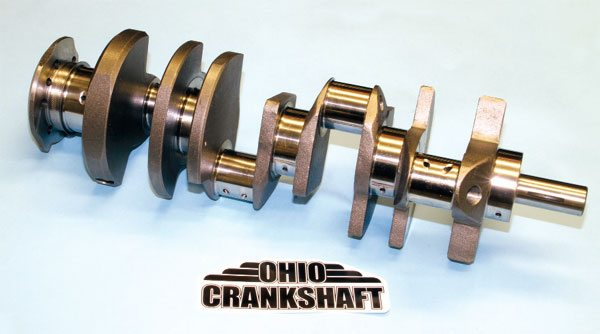 Ohio Crankshaft offers new Pontiac crankshafts constructed of cast iron or forged steel in a variety of popular bore and stroke dimensions for blocks with 3- and 3.25-inch main journals. Cast units like this are constructed of nodular iron alloy and make an excellent choice when replacing an original piece. Its forged cranks are ideal for high-performance applications producing 1,000 to 1,200 hp.