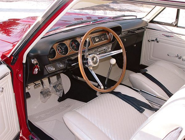 "If most of your interior is in great shape, it still is a wise investment to replace all of the seat upholstery when one seat is in need of recov¬ering. No interior manufacturer is going to be able to compensate for the aging of the original material and no matter what you do, the seats will not have a consistent color or wear match. By replacing all of the seat upholstery, the interior has a ""just-built"" look that positively reflects on the entire restoration. (Photo Cour¬tesy Scott Tiemann)"