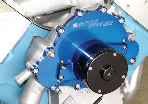 Meziere produces two high-quality electric water pumps for Pontiac V-8s in a variety of colors. Its 35-gph unit is recommended for naturally aspirated applications producing up to 650 hp, and its 42-gph unit is recommended for applications that exceed that. Contact Meziere for its recommendation if you're running forced induction or heavy doses of nitrous oxide.