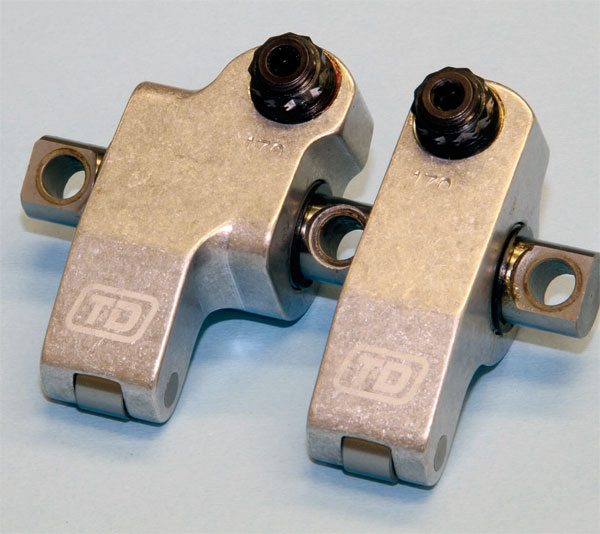 T&D Machine produces a premium shaft-mounted rocker arm set for the Pontiac V-8. Each set is essentially custom made for the application and a wide array of ratios is available. T&D also has the ability to produce the intake rocker arm with its pushrod cup offset to accommodate wide-port cylinder heads.