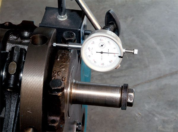 Crankshaft thrust is taken up on the number-4 main journal. Whether using an original Pontiac crank or one of the main aftermarket options, thrust clearance should remain between .005 and .009 inch. Any variance outside that range can lead to premature bearing wear and/or abnormal operating issues. Selecting main bearings from another manufacturer can sometimes affect it, but I suggest contacting your machinist and component suppliers if it varies outside that range.