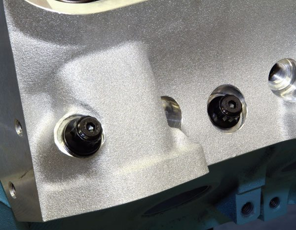 Cylinder head studs reduce the amount of twisting force the block sees during tightening and can provide a clamping load that's more consistent. I recommend ARP cylinder head studs when performance exceeds 650 hp. ARP's specific moly-based thread lubricant on the threads and under the washers during install yields the best results.