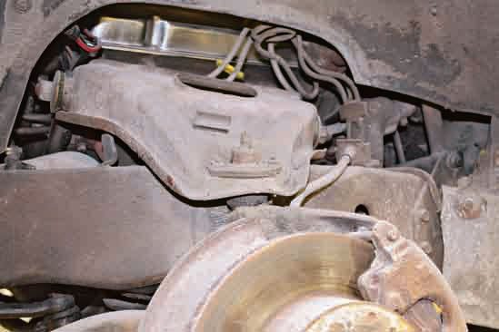 This secondgeneration Firebird has experienced years of road grime that has accumulated on its upper control arm.