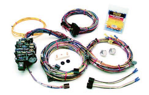A wiring harness is a wearable item, and after more than 40 years, it may be simply worn out. If you're performing a complete restoration, it's a good opportunity to install a new harness. Routing and securing the harness is much easier if the engine and interior have been removed because you have full access to do the work. If your wir¬ing harness has been substantially damaged, burned, or deteriorated beyond repair, you need to install a new one.  Painless offers exceptional reproduction wiring harnesses. Its universal GM muscle car kit fits all GM A-, F-, and X-Body cars from 1964 to 1974 and an optional engine compartment harness can also be included. It is a more generic version of what was offered in the cars originally and uses standard GM plugs, fittings, and color coding. Installation can be accomplished using the same procedures as for a factory-original harness. This kit even includes labels for connections, which makes the installation, well, painless. The system includes comprehensive instructions, which can be downloaded from the web¬site. (Photo Courtesy Painless Performance Products)