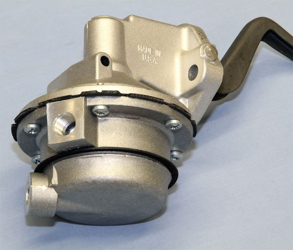 If you're using a mechanical fuel pump in your Pontiac V-8, a high-performance unit from Carter or RobbMc Performance may be required to deliver sufficient volume for engines producing 500 hp or slightly more. I suggest an electric fuel pump once horsepower exceeds that point, particularly if you're using a Quadrajet with its very small float bowl. A block-off plate can be installed in place of the mechanical pump when using an electric unit.