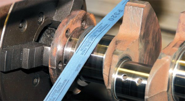 Micro-polishing leaves behind a very smooth journal surface that improves lubrication and bearing life. It involves a special polisher that circulates fine-grit polishing ribbons. It should be considered part of any rebuild, no matter how basic.