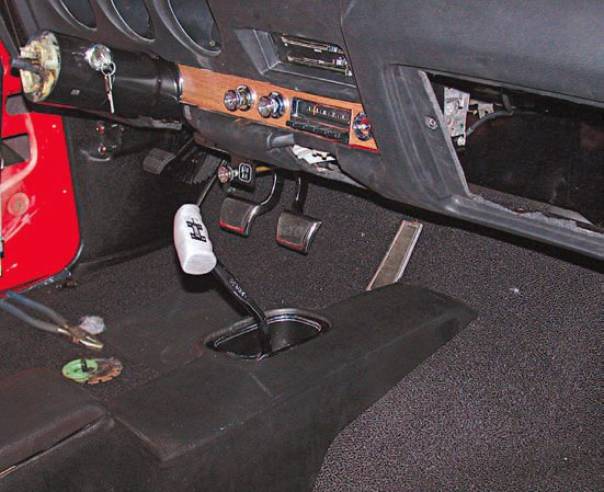 Often, the metallic bezels for the speedometer, tach, and gas gauge need to be refinished and you need to send the dash out for this to be done by a professional. If the gauges themselves are functional, you can re-install them. However, for a factory-new appearance, you should send out the gauges for reconditioning. To restore the finish of the dash, professionals apply a metallic material to the various areas of the dash. Once that has been completed, the walnut veneer is applied to the dash.