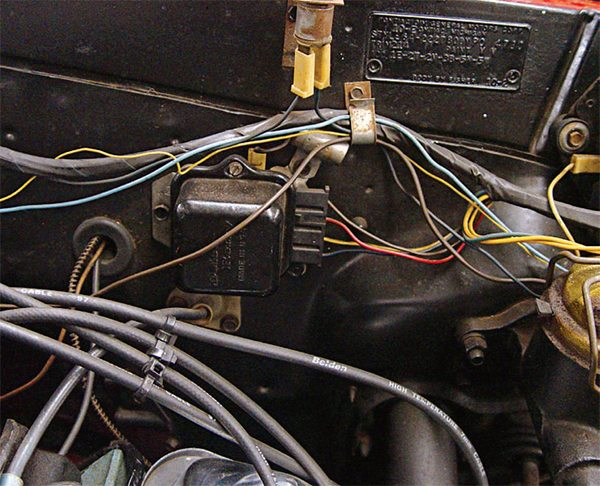 Although the alternator is usually blamed for charging problems, you need to check on the voltage regulator as well. Look for breaks in the circuit and use a multi-tester to confirm the resistance ratings in the shop manual. If clean¬ing the contacts still does not bring the readings to spec, replace it. If it is not operating properly, the alternator cannot properly charge the battery, prevent¬ing long-term operation. Replacements are readily available and installation is a plug-and-play procedure.