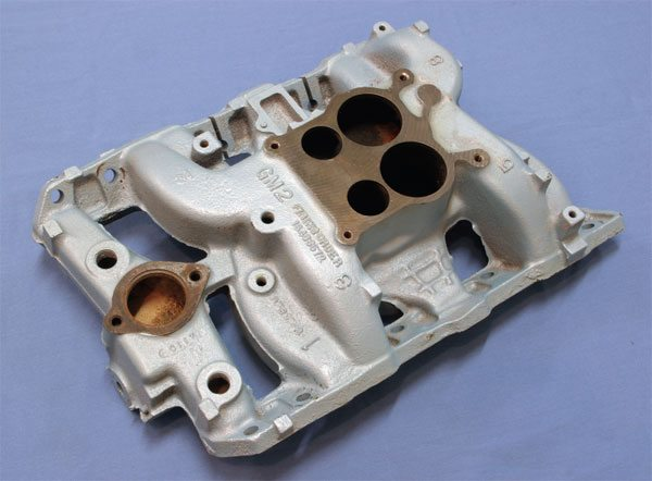 Any 1968–1972 Pontiac cast-iron intake manifold provides excellent performance in as-cast form. They can be purchased relatively cheaply and provide sufficient hood clearance with any Pontiac chassis. Castings from 1972 are most desirable, since its exhaust crossover is compatible with those on Pontiac cylinder heads produced during the late 1970s.