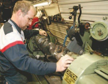 With so many affordable aftermarket crankshafts for other makes available today, there aren't many modern machine shops that grind crankshafts in-house anymore. If your rebuild requires this, and if the machine shop you select subcontracts the task, ask for the name of the company.