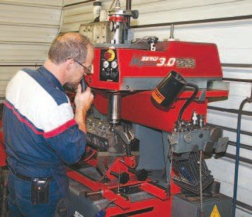 Any quality machine shop should have modern valveguide and seat equipment to precisely prepare its customer's cylinder heads. This equipment from Serdi can cut multiple angles into a valve seat in a single pass, using the valveguide to properly locate the cutter in relation to the seat.