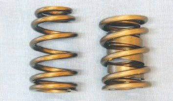 Valvesprings are often overlooked, but they play a critical role in the performance of an engine. They control valve action while not fatiguing from harmonics created from normal operation. Pontiac engines used a dual-spring package, and it remains very popular for rebuilds. A conical valvespring, with a beehive-like shape, can effectively control valve action while reducing valvetrain mass (left). It can be used in certain conditions where an aftermarket dual-spring package (right) cannot.