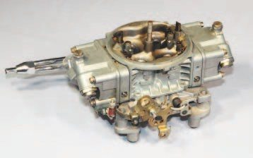 The Holley 4-barrel carburetor remains a popular choice for maximum-performance applications. Depending upon flow capacity, it can be a suitable choice for street use too. Fuel economy tends to suffer when compared to a properly calibrated Quadrajet, however. The Holley's square-bore bolt pattern requires an aftermarket intake manifold or a specific adapter plate to fit a stock manifold.
