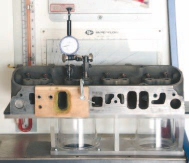 A flow bench is an excellent tool used by professionals to measure the static airflow capacity of cylinder heads, intake manifolds, and carburetors. I own and operate a SuperFlow number-SF-110, which is quite sufficient for comparing airflow for my own projects. The intake and exhaust ports of the 400's 670 cylinder heads peaked at 212 and 165 cfm at 28 inches of pressure, respectively. The capacity falls right in line with other D-port castings with 2.11/1.77- inch valves I've measured and should be capable of sustaining 400 hp.