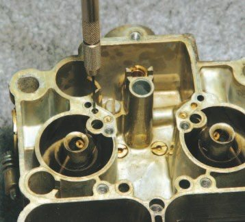 Effective Quadrajet modifications are more involved than simply changing metering jets and rods. Enlarging certain passages with a small drill bit often is the only way to improve idle quality and the off-idle transition. CarTech's How to Rebuild and Modify Rochester Quadrajet Carburetors, by Cliff Ruggles, is an excellent resource that clearly describes which holes must be drilled, and how large to make them.