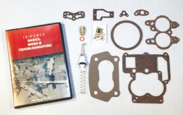 Finding complete rebuild kits for Rochester 2-barrel carburetors can be difficult enough, but finding the correct kits to properly rebuild a Pontiac Tri-Power setup can be discouraging. Mike's Tri-Powers offers complete rebuild kits for each Tri-Power carburetor. The kits include the required gaskets and a plethora of small parts. Even better, Mike's offers an informative DVD that walks you through the Tri-Power rebuild and tuning process.