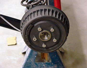 "This rear brake drum from the Royal Bobcat 1964 GTO is correct for the application, as evidenced by its cast¬ing number D-50325. The ""D"" stands for developmental, which sometimes shows up on a pilot line and early pro¬duction vehicles. While they typcially are reserved for experimental pieces, the developmental casting numbers can remain if no changes are needed for production. Since the car was an early build, November 2, 1963, it is more than likely the original drum bolted to the car. (Photo Courtesy Scott Tiemann)"