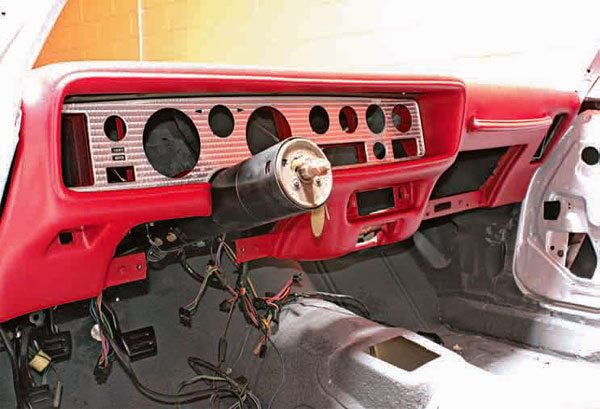 The dash harness is the main nerve center of the Firebird, so it's critical to install it correctly. A consistent electrical load and weather can severely impact the health and performance of the main wiring harness. After three decades, wires become brittle, worn, and sometimes stripped. Often the main wiring needs to be replaced.
