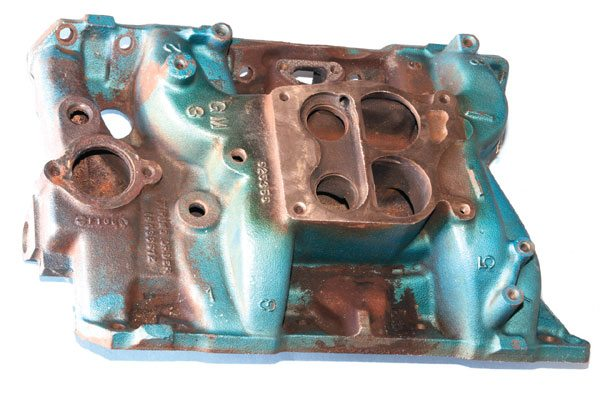 "Smog-era manifolds are quite undesirable from a performance perspective, but don't discount those from the late 1970s if you're building on a budget or if class rules require it. An EGR valve was added in 1973 and the carburetor flange was modified in 1975, and the secondary bores gained a distinct ""D"" shape, but neither greatly affected flow capacity."