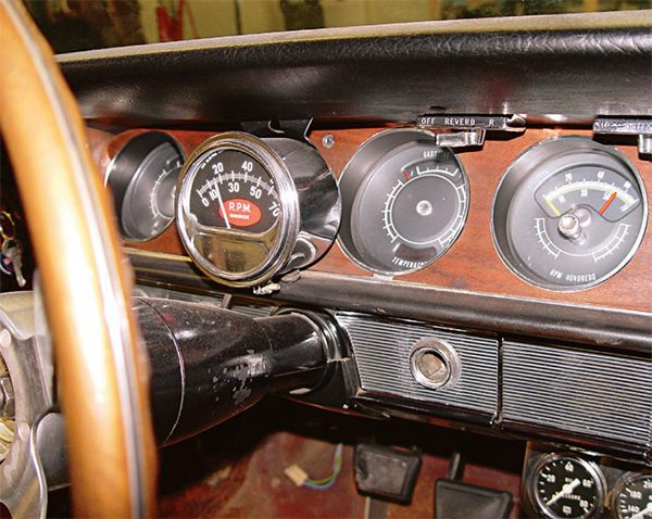 If your car has an aftermarket tach or other accessory gauges installed, the decision to retain them is based on your restoration type and their condition. If you are performing a concours-style resto and none of the gauges work, remove them. If they are period-correct and you are performing a weekend driver restoration effort, it is worthwhile to retain them. In the case of this car, a 1964 Royal Bobcat GTO, they were retained, as the car was restored not to 100-percent stock, but to the configuration that it was in when it was featured in the March 1964 issue of Car and Driver magazine. Since the gauges were in very good original condition, they were simply disassmbled, cleaned, and re-assembled. (Photo Courtesy Scott Tiemann)