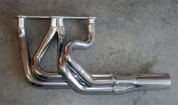 Ceramic coating not only provides an attractive finish that's very durable, it also acts as a thermal barrier that prevents exhaust heat from dissipating too quickly, slowing the charge as it exits. In addition to silver ceramic coating for tube headers, natural cast-iron (gray) is a popular color for cast exhaust manifolds.