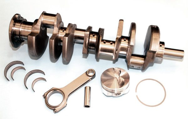 Most aftermarket crankshaft manufacturers and professional Pontiac engine builders offer complete rotating assembly kits. They includes a cast or forged crankshaft with stock-length or longer stroke, forged connecting rods and pistons, and the appropriate rings and bearings. Such kits typically require nothing more than simple block machining for drop-in installation. They are an excellent performance value that can quickly and easily improve the performance and reliability of any engine build.
