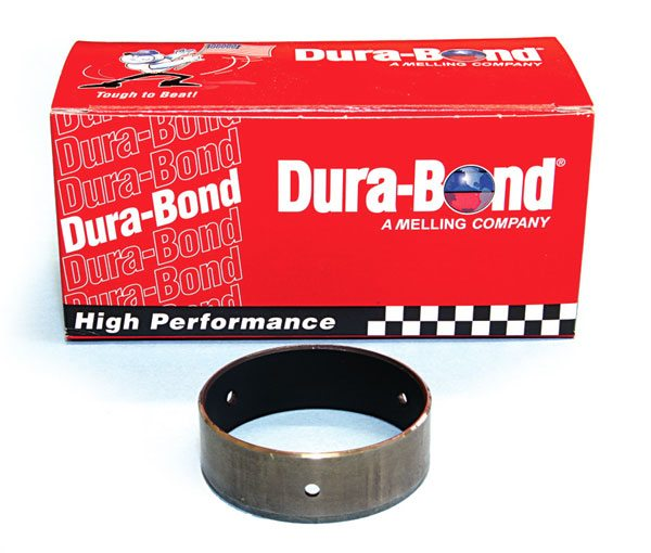 Dura-Bond offers a high-quality Pontiac camshaft bearing set that features a dry-film lubricant coating. The coating reduces friction in applications where extreme valvespring pressure can damage standard bearings, such as with a very aggressive solid roller camshaft with high-valve lift.