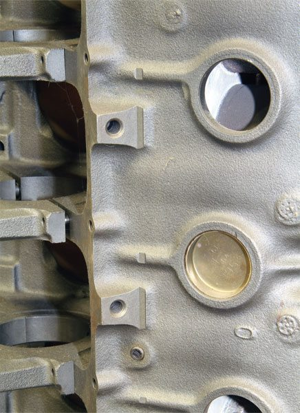 Most Pontiac blocks from 1970 forward have four or five engine-mount bolt holes on each side, which allows easy installation into any chassis. Earlier blocks, such as this 1968 400, and even some very late 1970s blocks have a limited number, and that can present installation issues. While adapter kits are available, they may compromise durability in extreme applications. Be sure the block you select has the correct mounting points for your chassis.