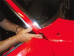 With the bottom bolts located and tightened establish the gap between the door and the fender with the wooden lath feeler gauge. & Restoring the GTO: Alignment \u0026 Assembly Guide \u2022 Pontiac DIY
