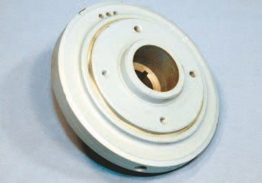 The most common Pontiac harmonic balancer was introduced in 1968 and measures 6.75 inches across. An excellent design that operates reliably when properly installed, it was used in all applications through mid 1976 and then in select applications through 1979. Your machinist can verify its accuracy during your rebuild. It should be replaced if it shows any signs of inaccuracy or pending failure. New units were available through GM parts departments until just a few years ago, so NOS units are still available. Aftermarket units are also available from your favorite Pontiac vendor.