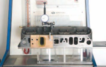 All D-port cylinder heads with 2.11- inch intake valves feature an intake port volume of approximately 153 cc. Peak airflow is somewhere around 210 cfm at 28 inches of pressure regardless of casting number. Common small-valve castings with 1.92- to 1.96-inch intake valves generally peak around 190 cfm in similar conditions. Testing shows maximum airflow occurs around .450-inch valve lift in either instance.