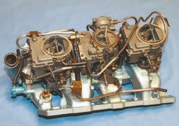 Tri-Power was introduced in 1957 to provide Pontiac's top performance street engines with a performance boost over the 4-barrel carburetor. The trio of Rochester 2-barrel carburetors became a Pontiac trademark. It was a wise marketing move that truly gave Pontiac a more youthful appeal with America's hot rodders and generated a high volume of customer traffic at dealerships.
