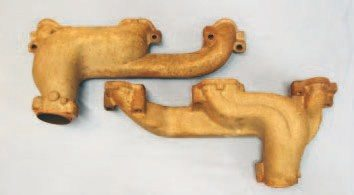 "The ""Ram Air"" exhaust manifold was introduced in 1967 for the 400 H.O. and the tight confines of the A-body chassis. Featuring four runners that are separated internally, its use expanded to the Firebird line in 1970. Available in both D-port and round-port configurations, they generally perform as well as any ""shorty""-style aftermarket header."