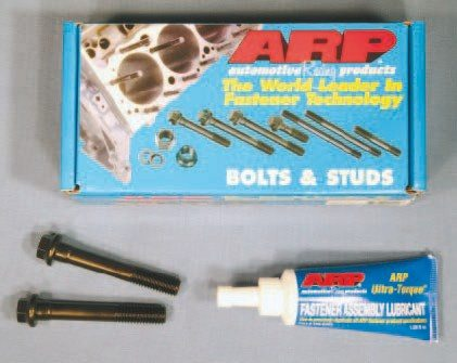 American Racing Products (ARP) produces some of the best engine fasteners on the market. Cylinder head bolts, rocker arm studs, connecting rod bolts, and flywheel bolts are just a few of popular fasteners readily available for Pontiac applications. ARP also produces its own molybased thread lubricant, which is suggested for assembly.