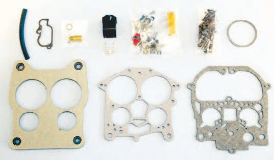 Cliff's High Performance offers complete rebuild kits that contain virtually every piece needed to properly restore the functionality of a Rochester Quadrajet carburetor. Cliff's kits may be more costly than those available at local auto parts stores, but they are full of top-quality components and include new gaskets, a float and filter, various small parts, and even new fasteners. The rubber parts are specially designed for use with ethanol-blend fuel.